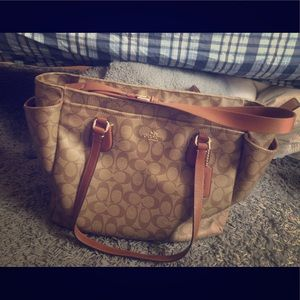 Coach diaper bag